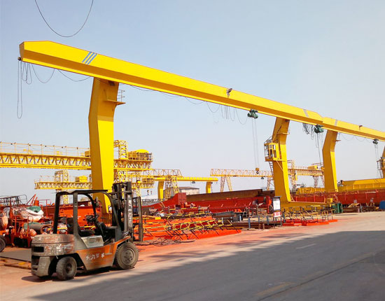 Single Girder L Type 30 Ton Gantry Crane