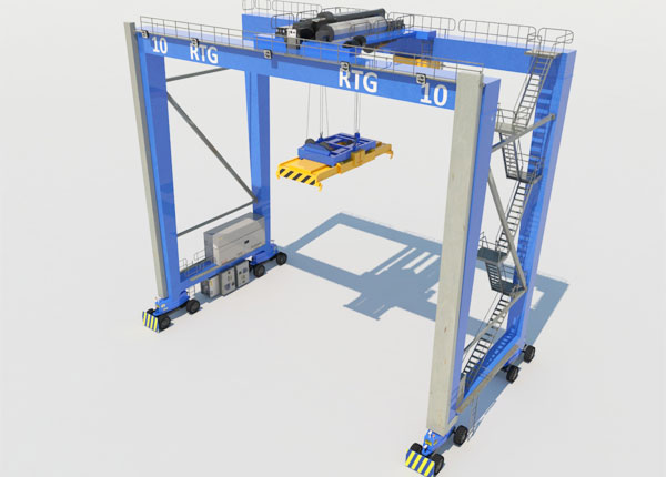 RTG Rubber Tyred Gantry Crane