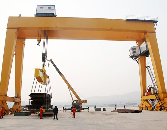 Single Girder Gantry Crane Without Cantilever