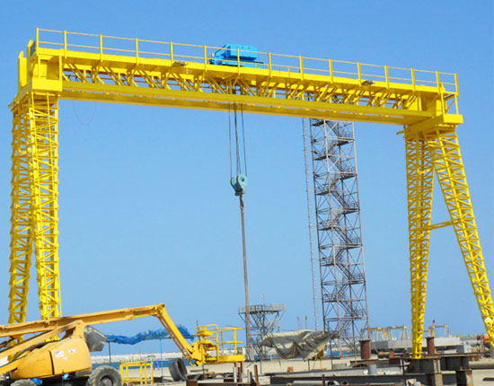 Outdoor Double Girder Truss Gantry Crane