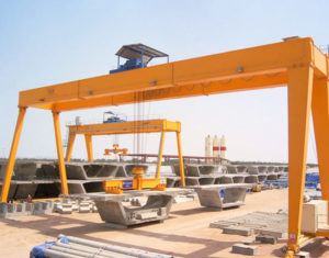 Double Girder Gantry Crane With Electric Hoist