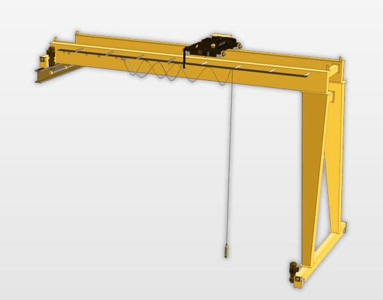 BMG Double Girder Semi Gantry Crane