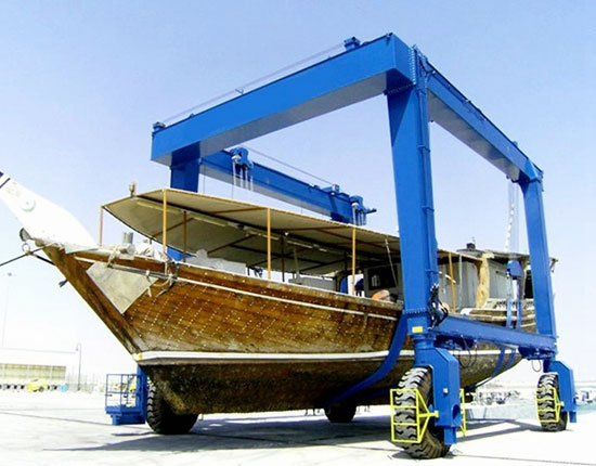 Mobile Boat Lift Crane