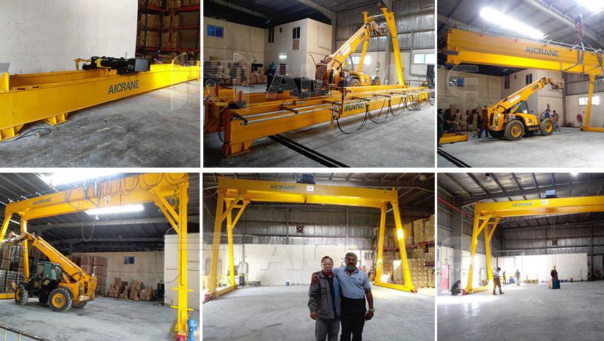 5T Electric Hoist Gantry Crane