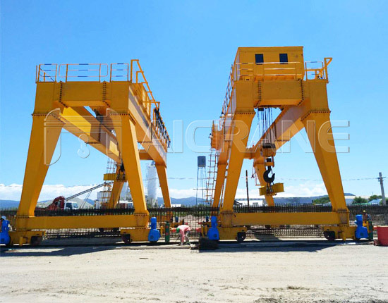 Two Sets of Double Girder Gantry Crane Installation in Argentina