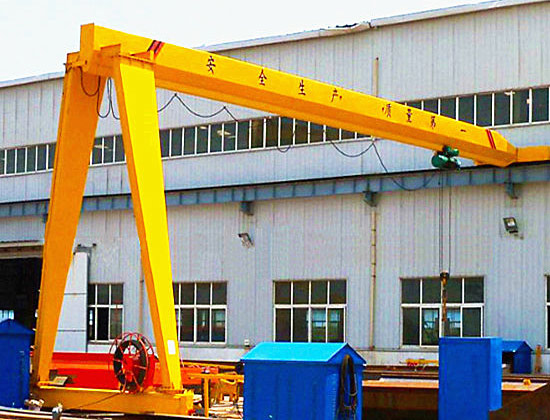 Single Girder Semi Gantry Crane for Sale