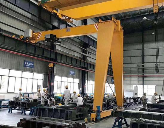 BMH Single Girder Semi Gantry Crane