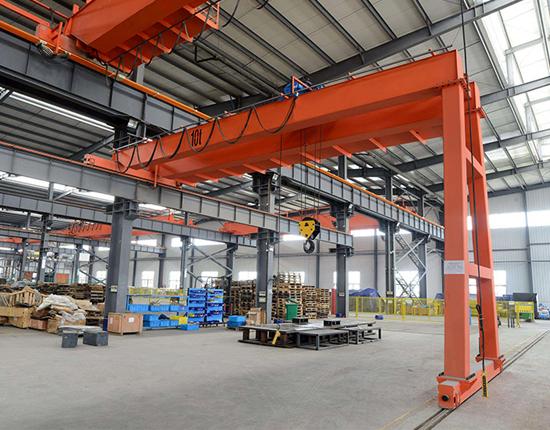 Double Girder Semi Gantry Crane Price