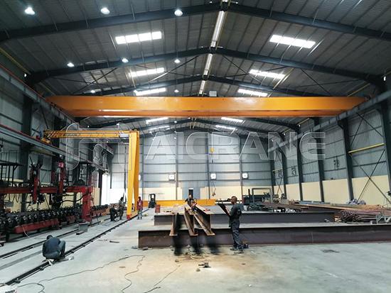 Overhead And Gantry Crane In Workshop