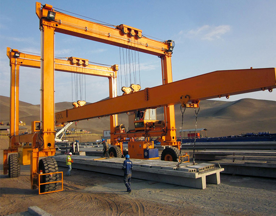 Rubber Tired Gantry Crane for Engineering Projects