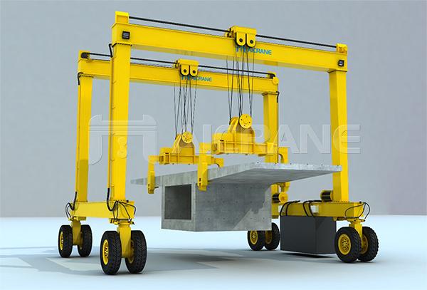 Rubber Tyred Gantry Crane for Beam Lifting